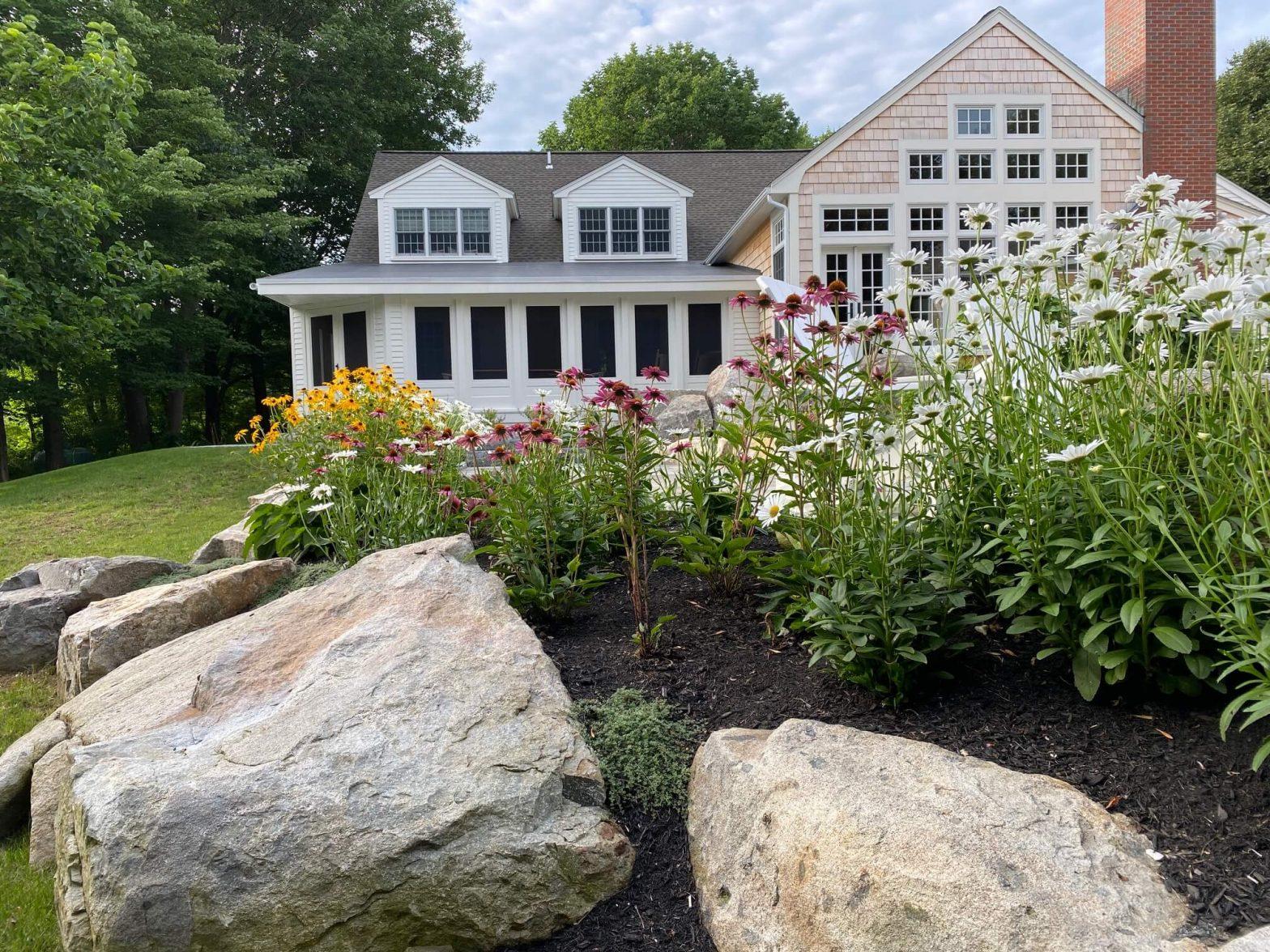 rock and flower landscape design 2